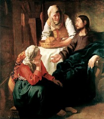 """Christ With Martha and Mary""; Vermeer 1654-55"