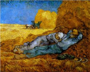 Van Gogh, 1890 Rest, Work (After Millet)