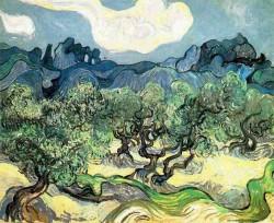 Van Gogh: Les Alpilles avec Olive Trees 1889